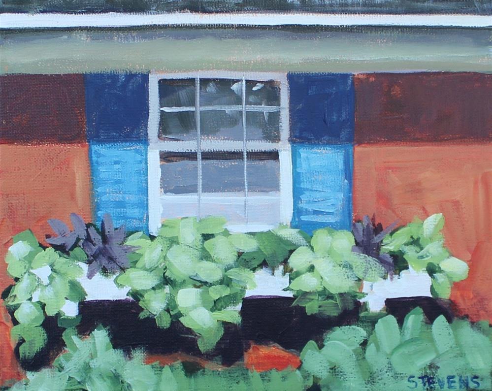 """Window Box"" original fine art by Jamie Stevens"
