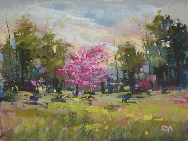 """New Pastel Demo Video: A Spring Landscape Painting"" original fine art by Karen Margulis"