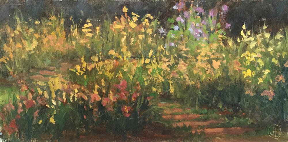 """""""sea of flowers"""" original fine art by Dottie  T  Leatherwood"""
