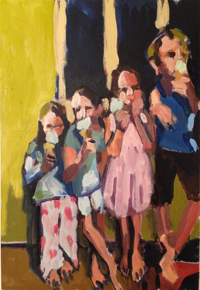 """The Ice Cream Eaters"" original fine art by Pamela Hoffmeister"
