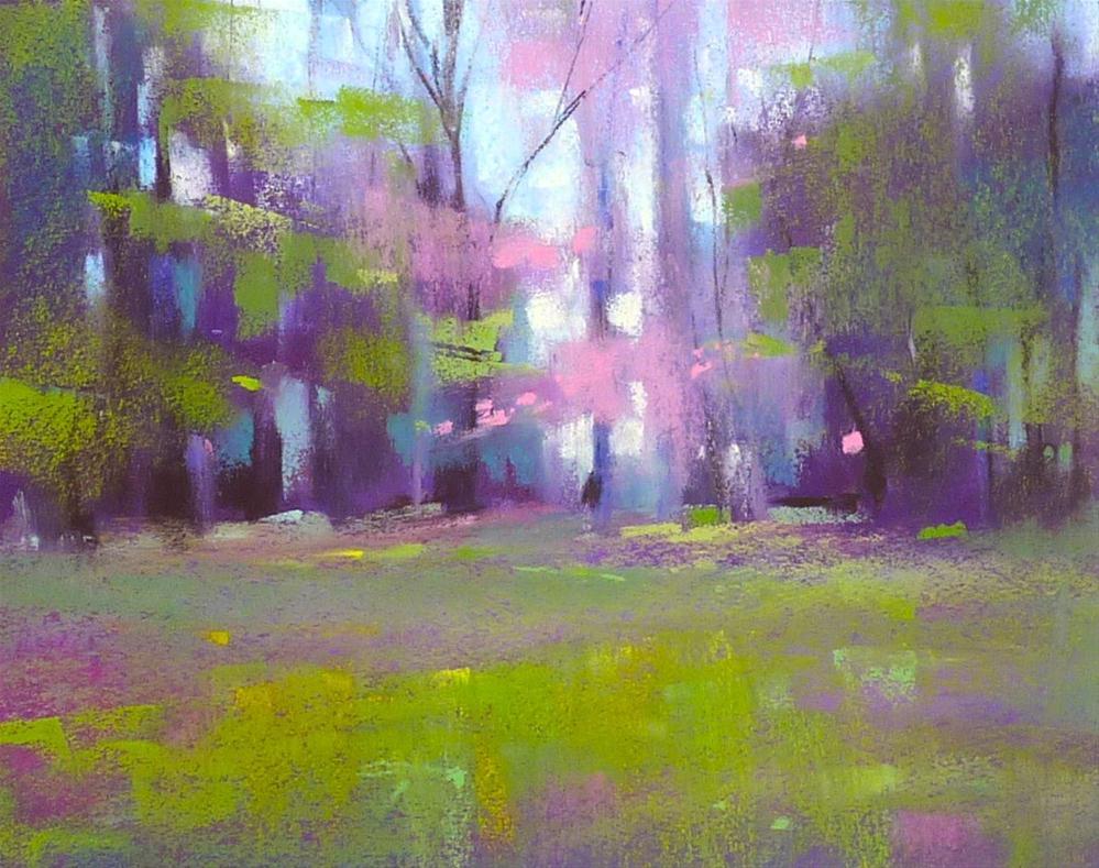 """""""Monday Pastel Demo...Spring Landscape"""" original fine art by Karen Margulis"""