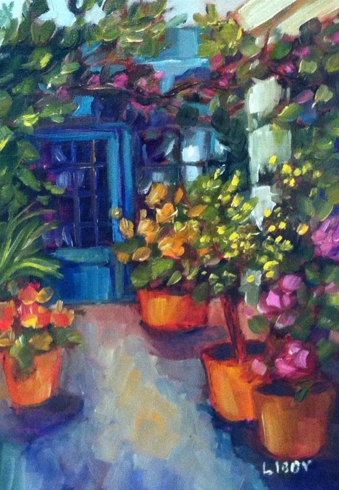 """""""Potting Shed"""" original fine art by Libby Anderson"""