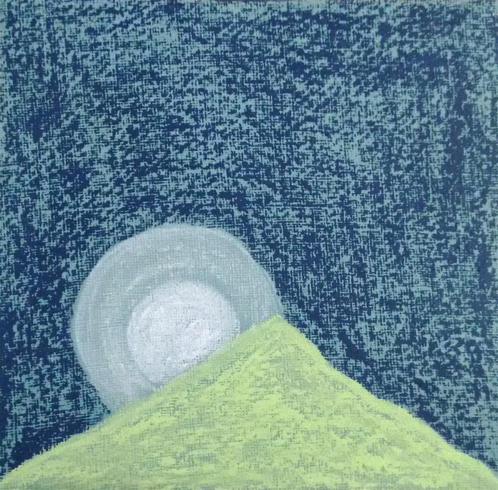 """""""Peaceful night on the Sacred Mountain"""" original fine art by Adéla Svobodová"""
