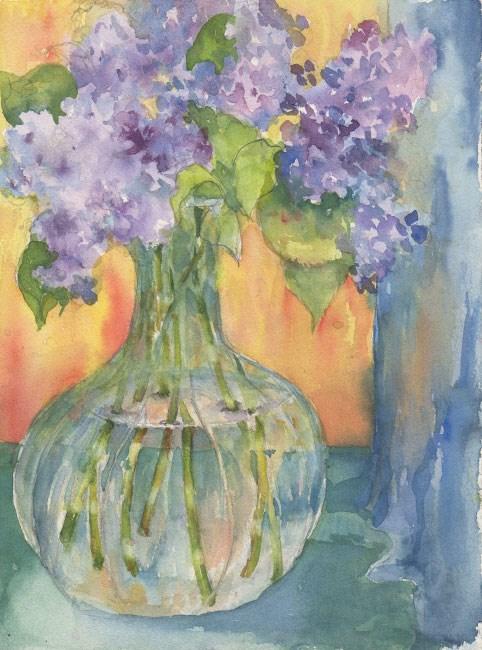 """Wareham Lilacs"" original fine art by Sue Dion"