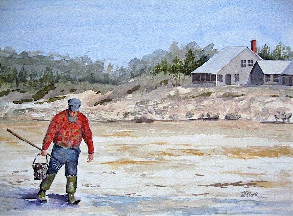"""Chowder for Lunch"" original fine art by Judith Freeman Clark"