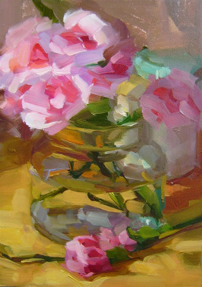 """Carnations"" original fine art by Holly Storlie"