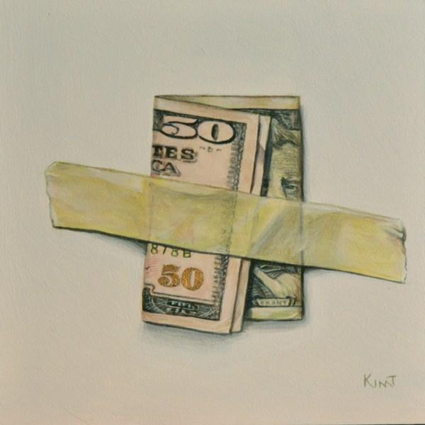 """Fifty Dollar Bill"" original fine art by Kim Testone"