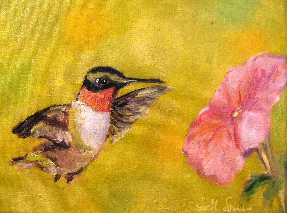 """Hummingbird"" original fine art by Susan Elizabeth Jones"