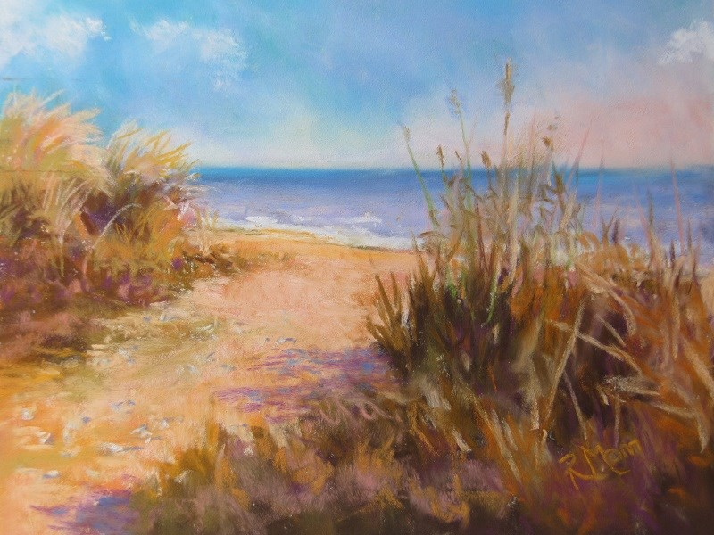 """Summer Dune"" original fine art by Ruth Mann"