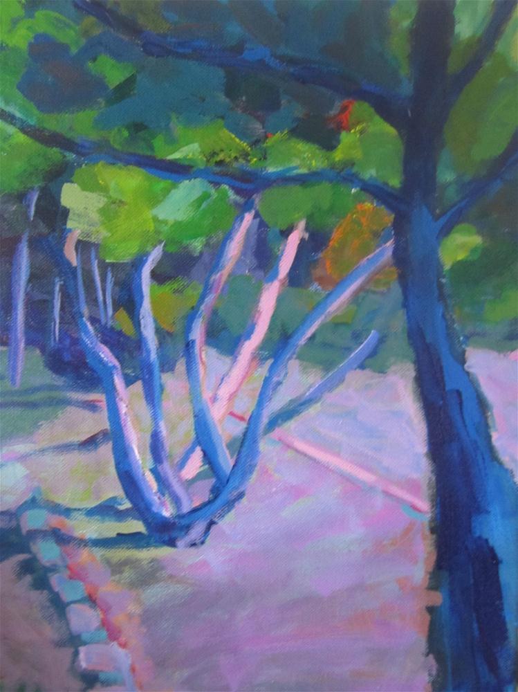 """Pink Light"" original fine art by Christine Parker"