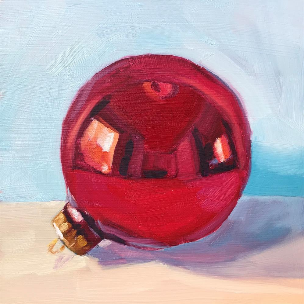 """Red Bulb"" original fine art by Sharon Schock"