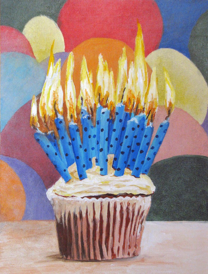 """Make a Big Wish"" original fine art by Nan Johnson"