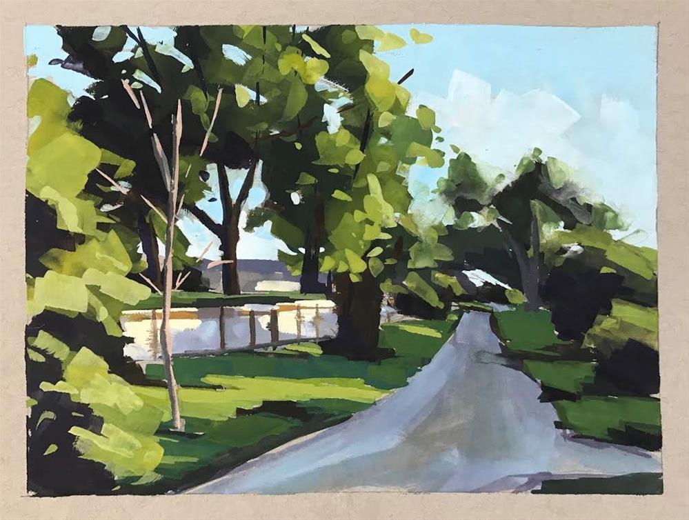 """""""Shadow Path"""" original fine art by Sharon Schock"""