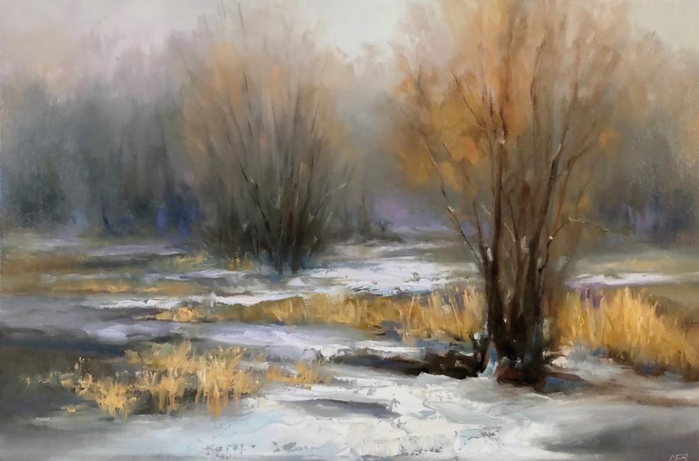 """""""Still Winter"""" original fine art by Christine E. S. Code"""
