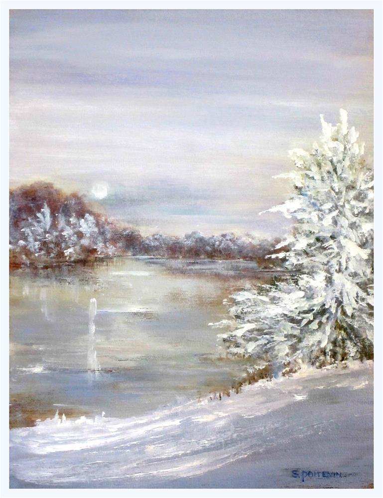 """Icing Over"" original fine art by Susan Poitevin"