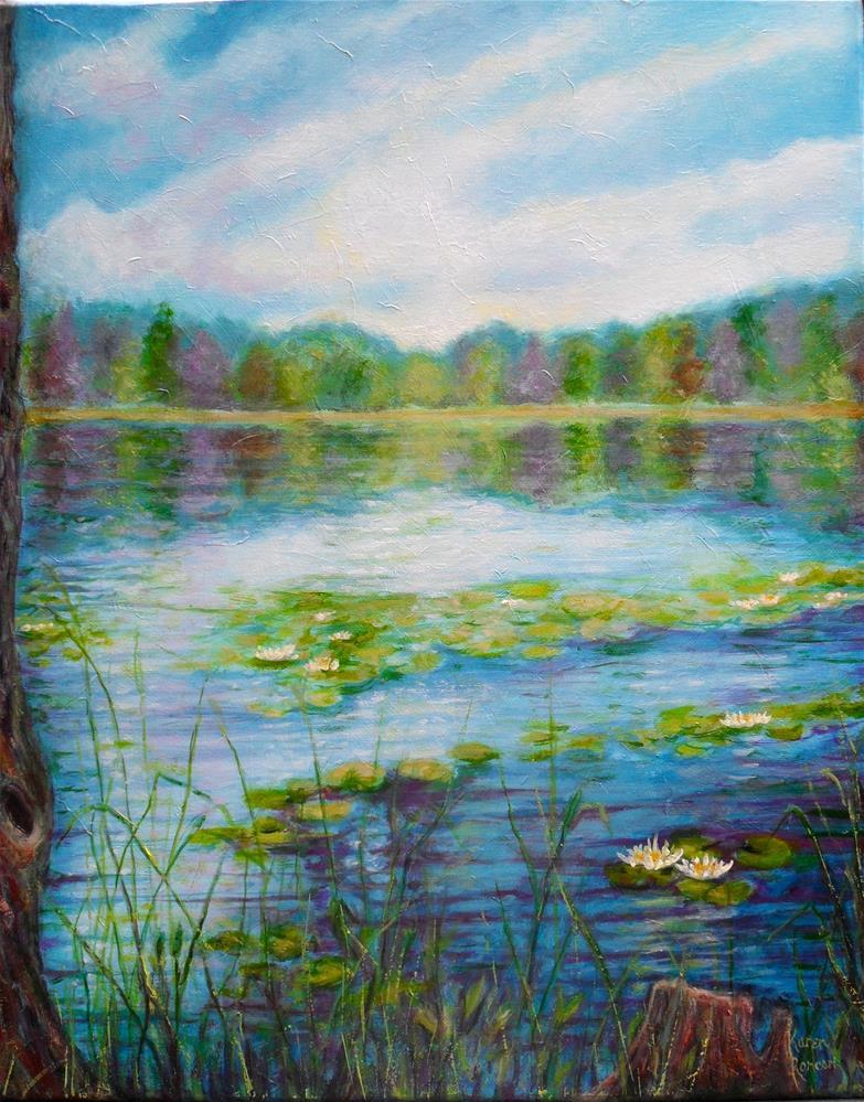 """""""Lily Lake"""" original fine art by Karen Roncari"""