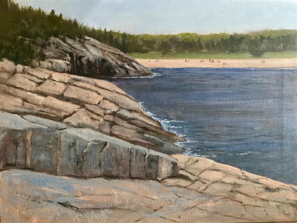 """cliffs at Acadia National Park"" original fine art by Betty Argiros"