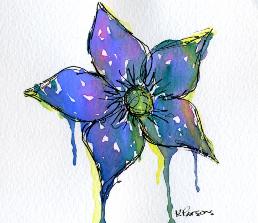 """Dripping Flower"" original fine art by Kali Parsons"