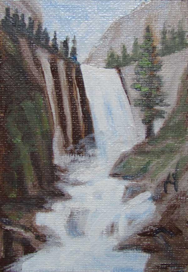 """Yosemite Vernal Falls miniature"" original fine art by Kim Victoria"