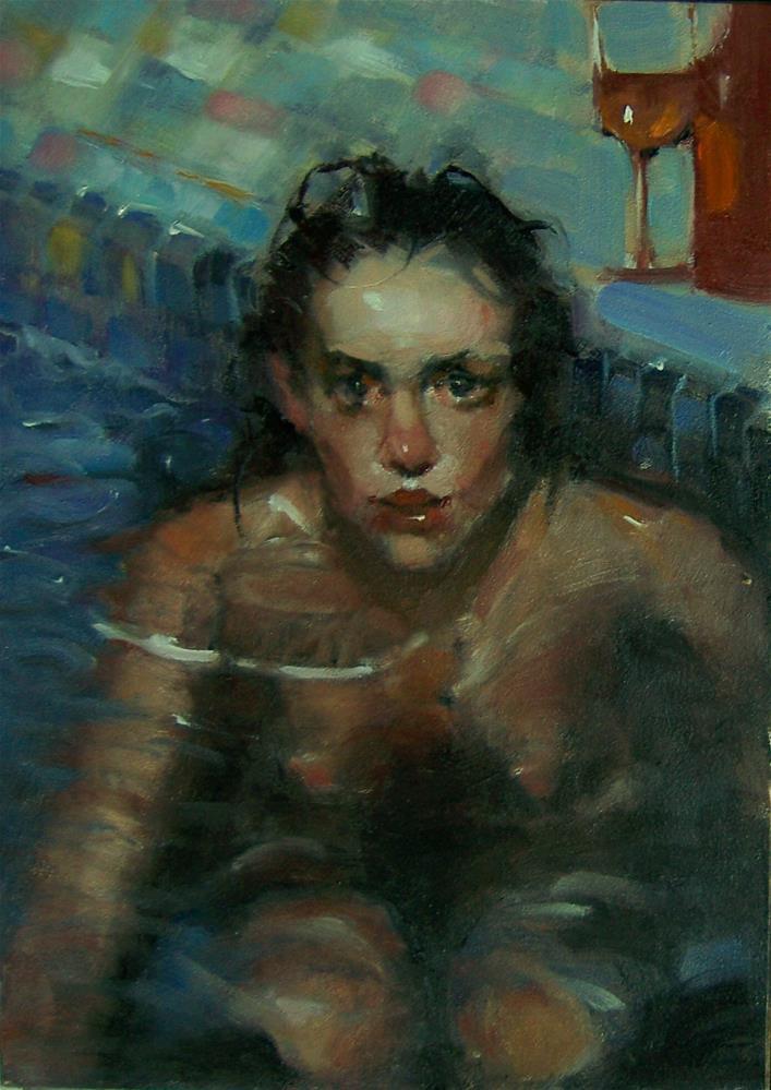 """Bather"" original fine art by Kim Roberti"