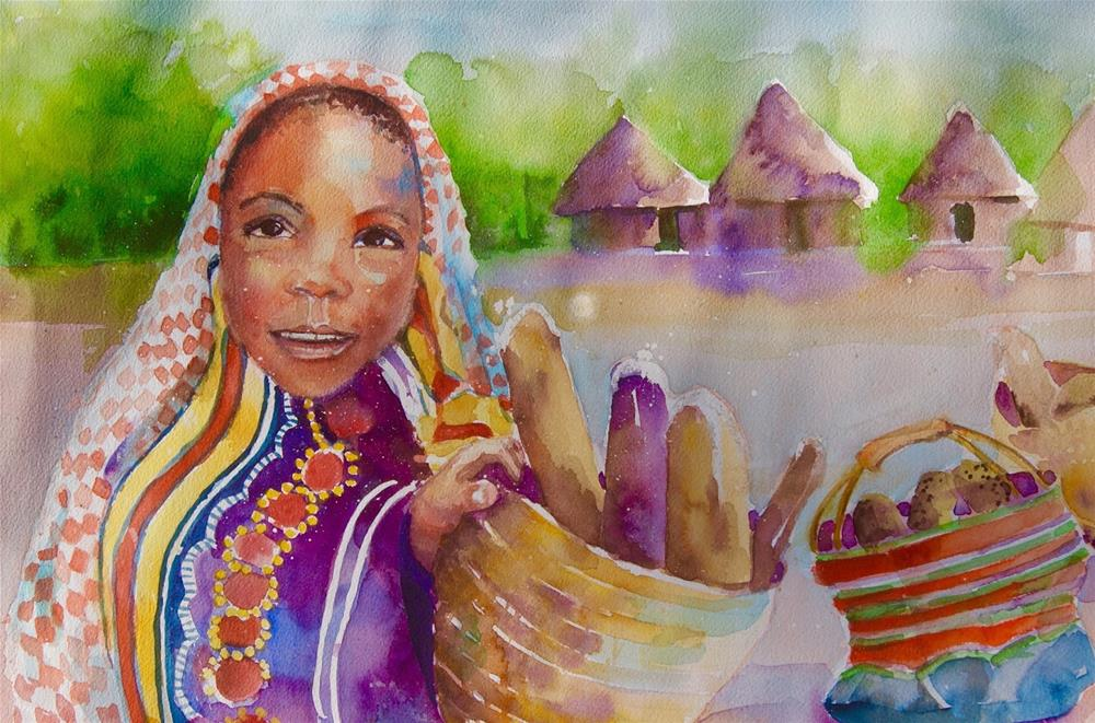"""Bread for the World"" original fine art by Reveille Kennedy"