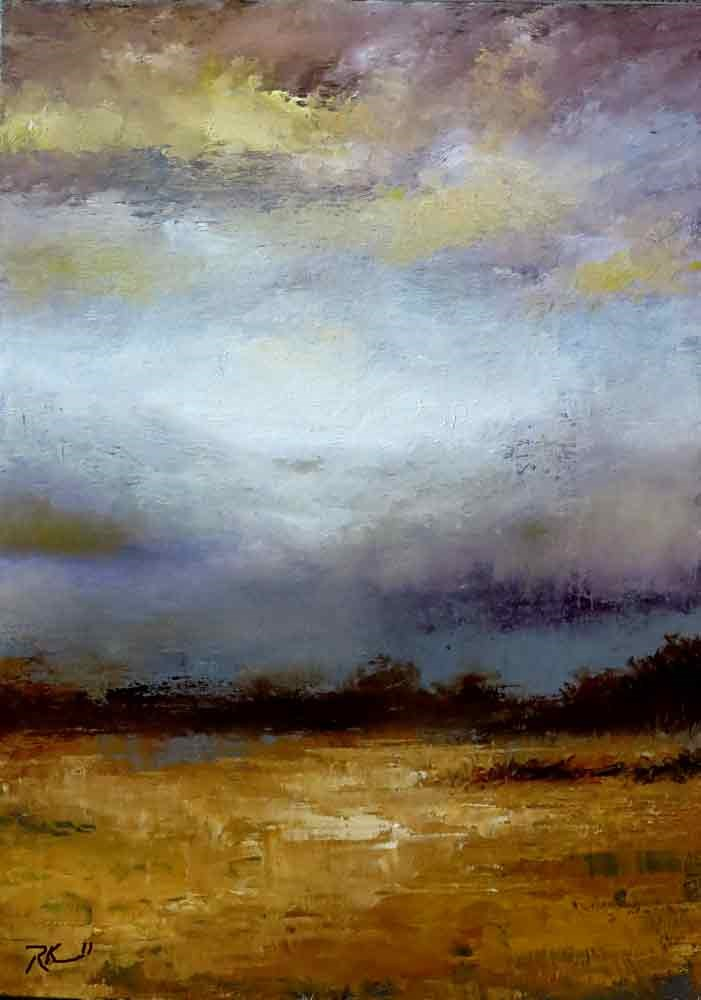 """A Storm on the Way"" original fine art by Bob Kimball"