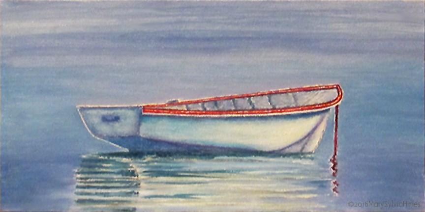 """Boat 1"" original fine art by Mary Sylvia Hines"