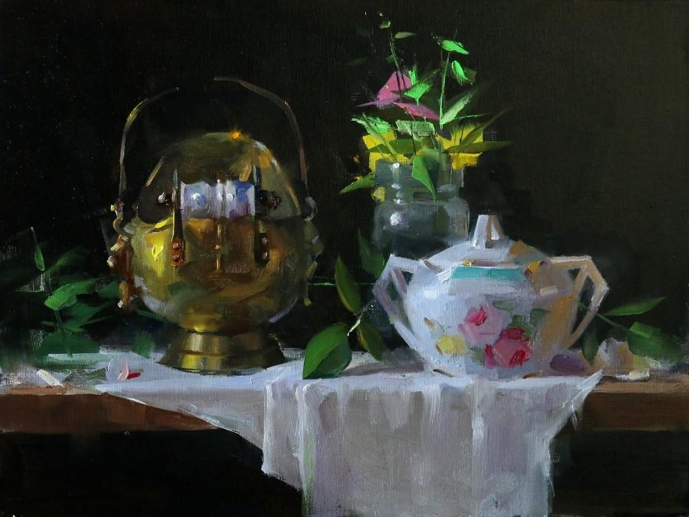 """Sugar Bowl and Charcoal Thingy"" original fine art by Qiang Huang"