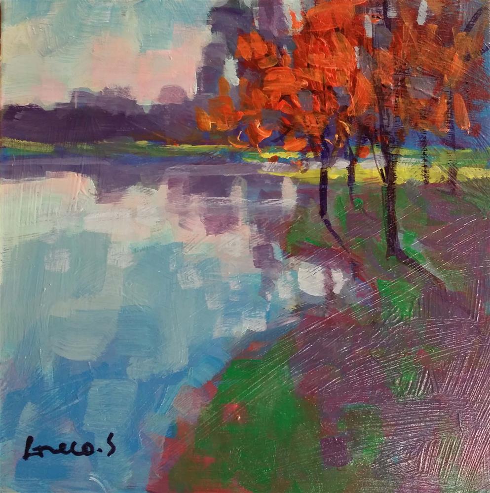 """""""landscape #8"""" original fine art by salvatore greco"""