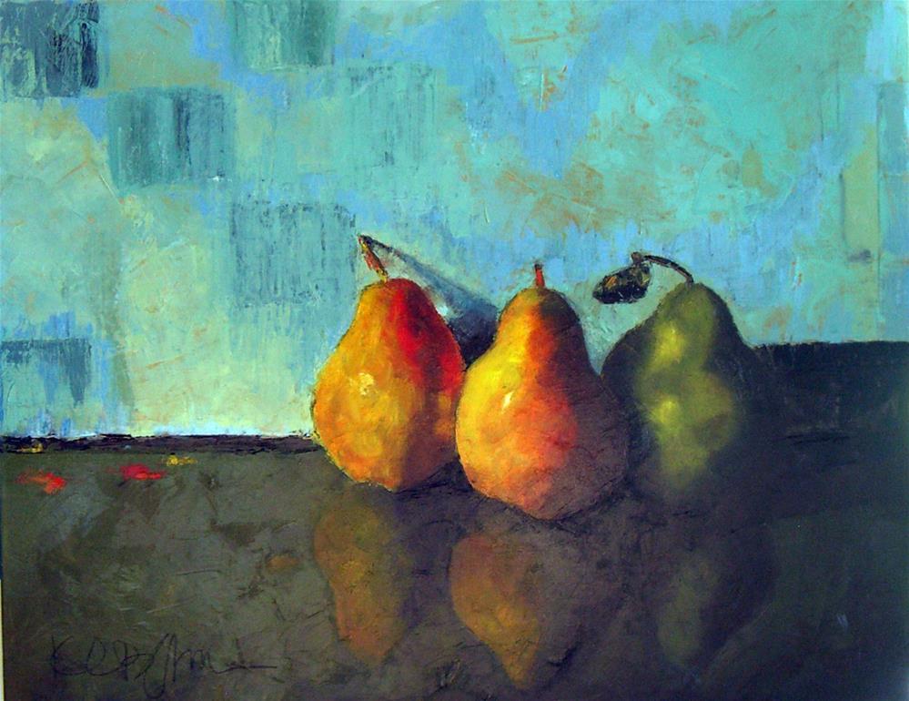 """""""Three Pears II"""" original fine art by Kathy Broyles"""