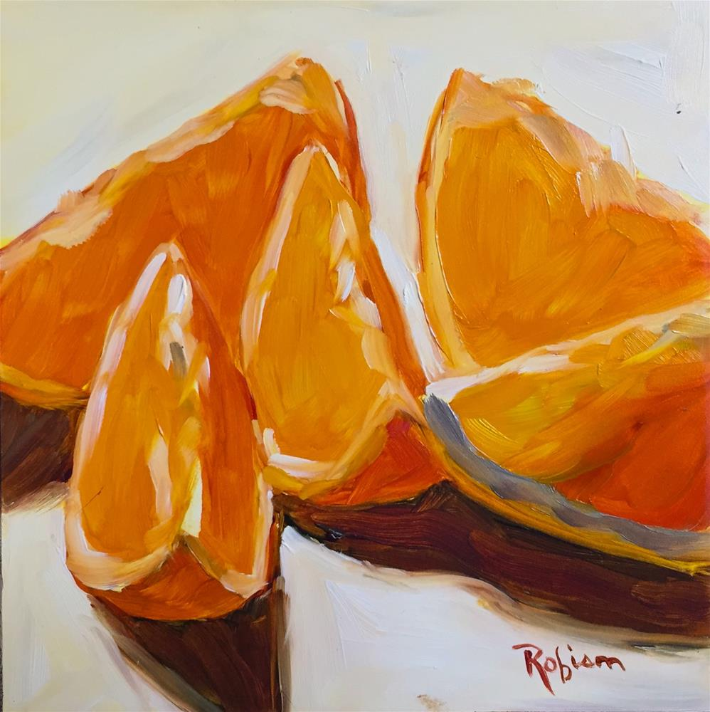 """Orange you glad I painted this?"" original fine art by Renee Robison"