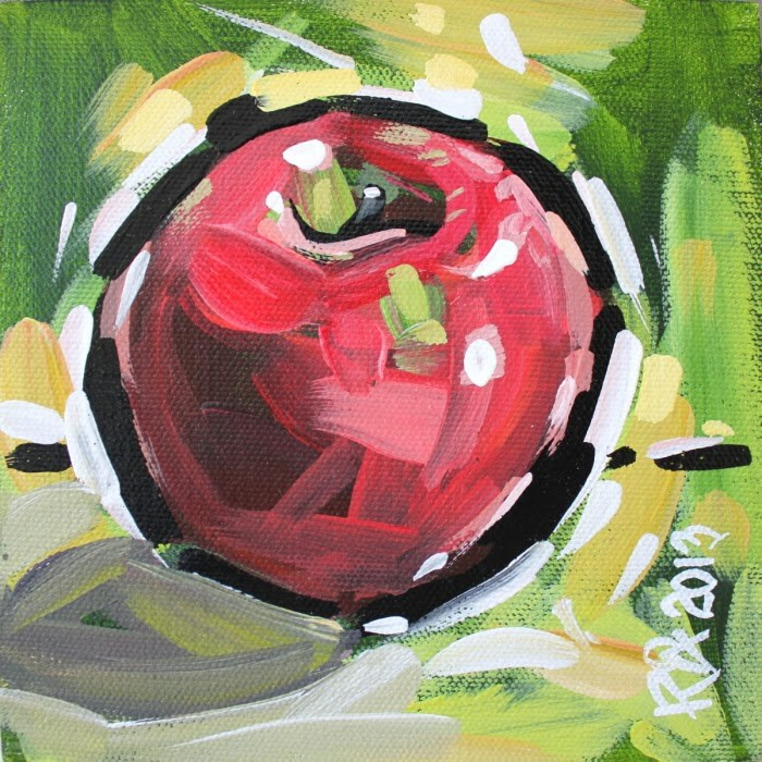 """Apple Abstraction 22"" original fine art by Roger Akesson"