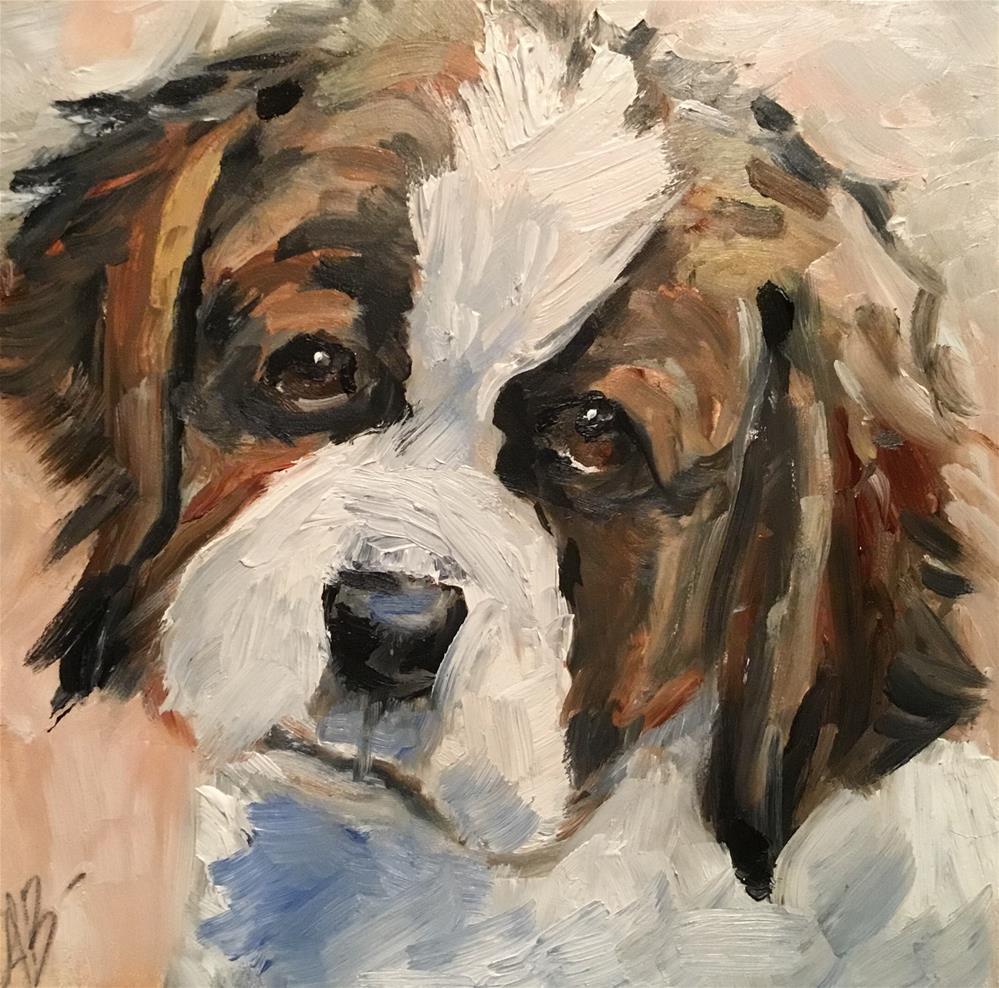 """Big Puppy Face"" original fine art by Annette Balesteri"