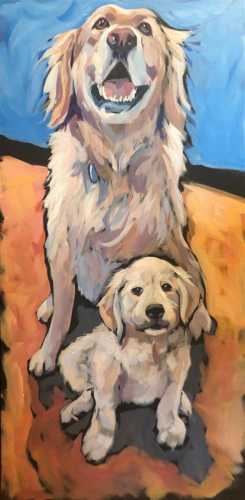 """Harvey and Hudson!"" original fine art by Kat Corrigan"