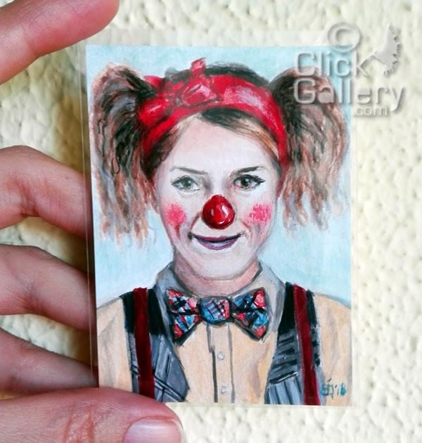 """Clown #41"" original fine art by Birsen Ozbilge"