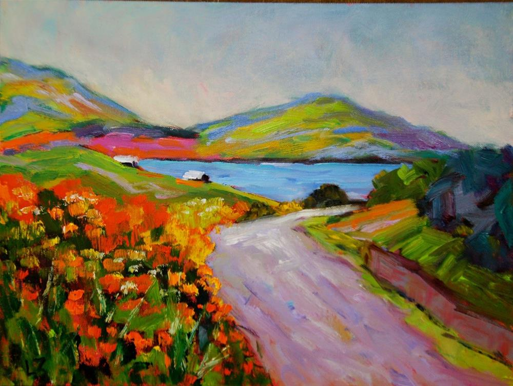 """Montbrecia Beauty"" original fine art by Liz Zornes"