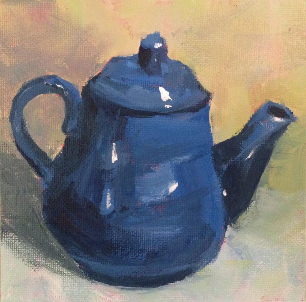 """""""Blue Teapot"""" original fine art by Shannon Bauer"""