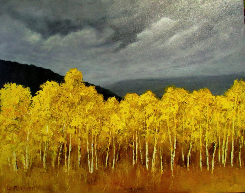 """24 x 30 inch oil October Brilliance #2"" original fine art by Linda Yurgensen"