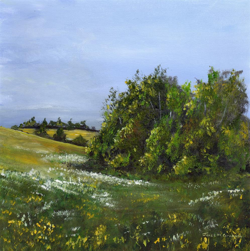 """Spring Meadow"" original fine art by Janet Graham"