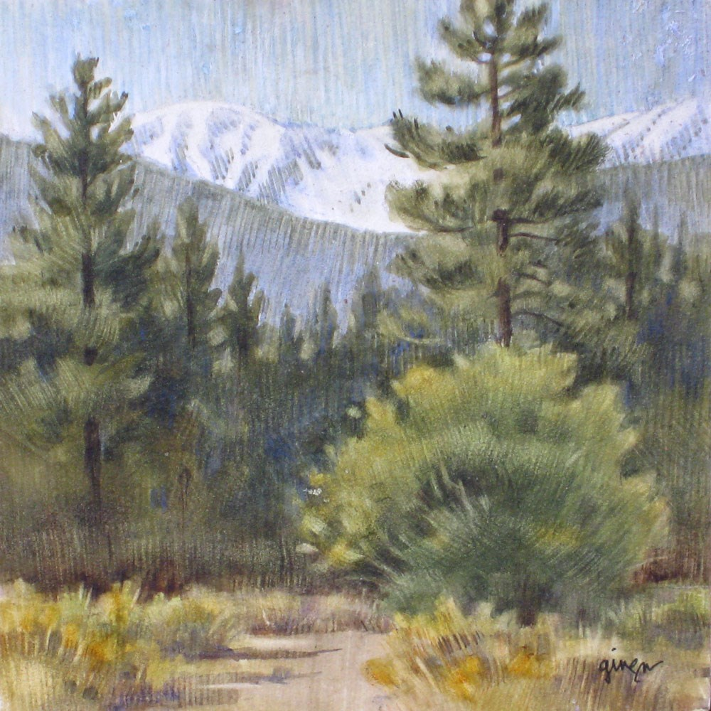 """San Gorgonio Mountain"" original fine art by Ginger Pena"