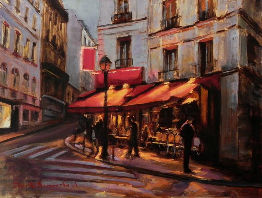 """""""Dusk in Montmartre III"""" original fine art by Jonelle Summerfield"""