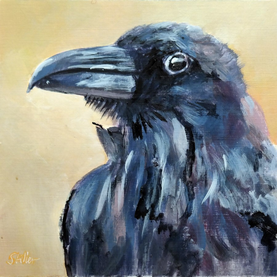 """2741 Ravenstuff"" original fine art by Dietmar Stiller"