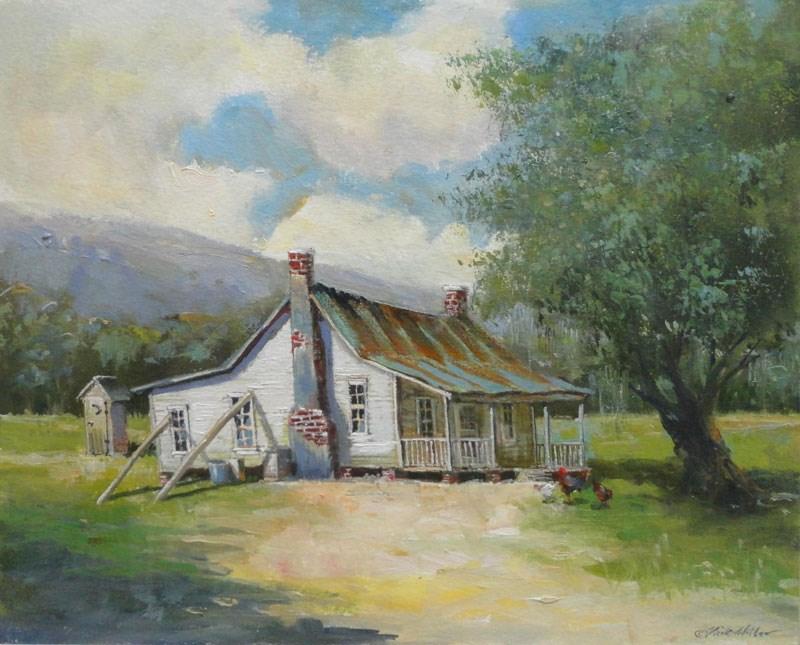 """Southern Shack"" original fine art by Kirk Miller"