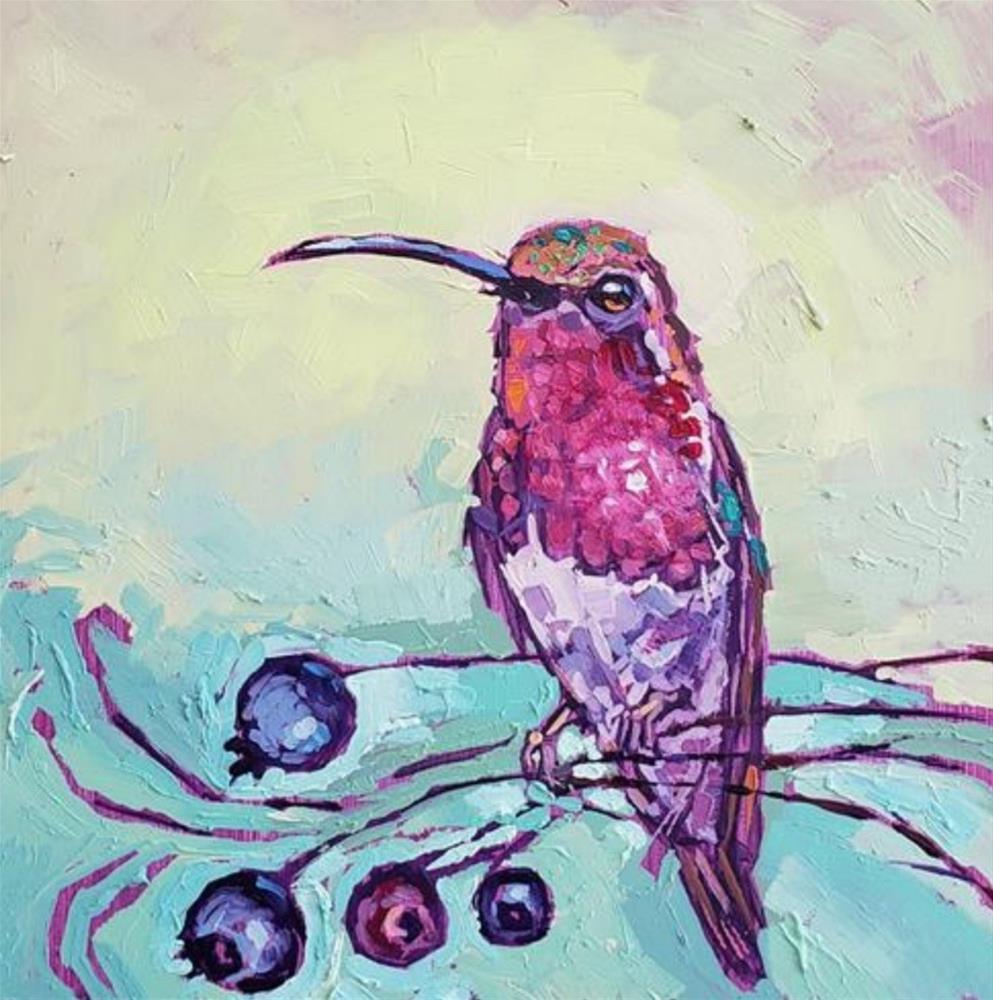 """Lucifer's Hummingbird"" original fine art by Bhavna Misra"