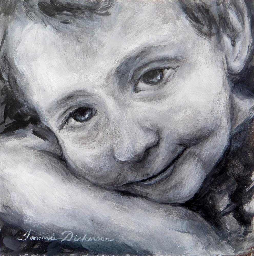 """Alan Smiles"" original fine art by Tammie Dickerson"