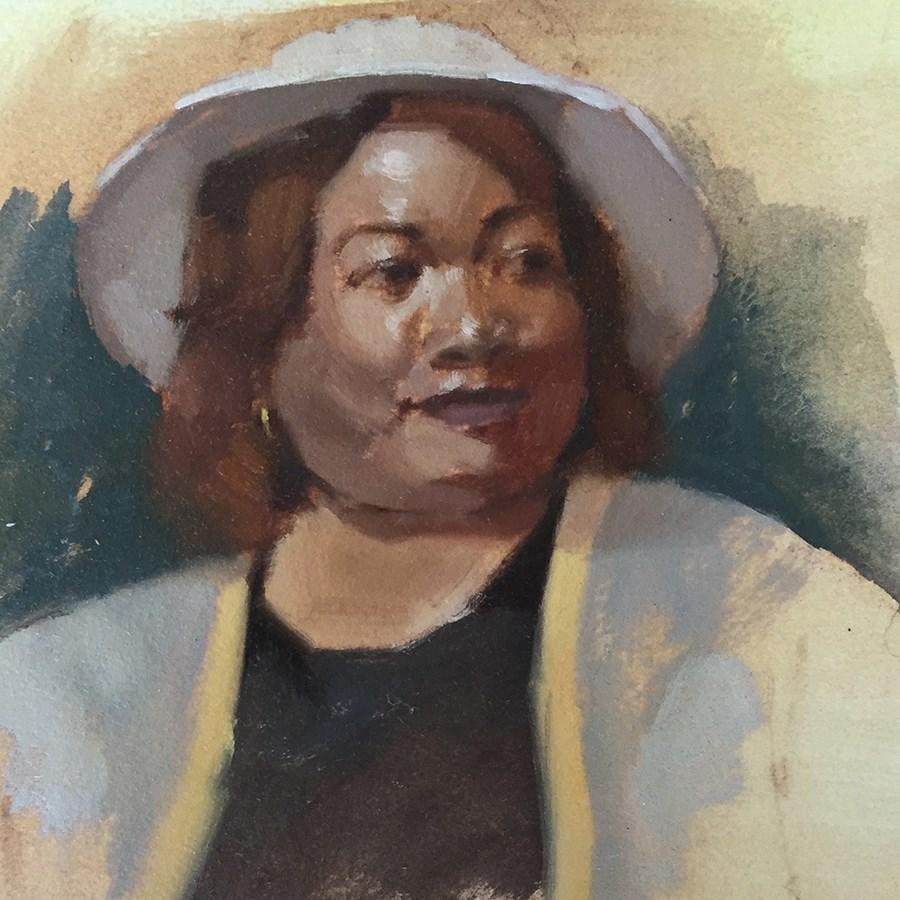 """""""Portrait of Cecilia"""" original fine art by Candace Brancik"""