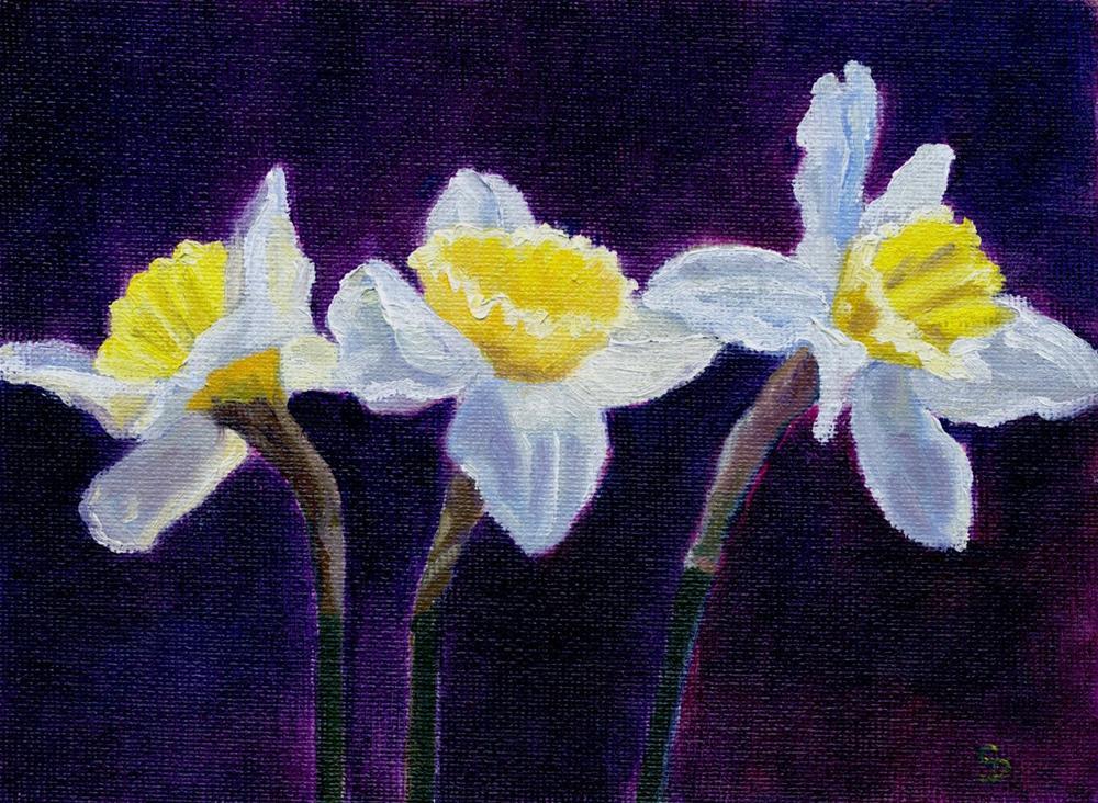 """""""Spring Trumpets"""" original fine art by Christine Derrick"""