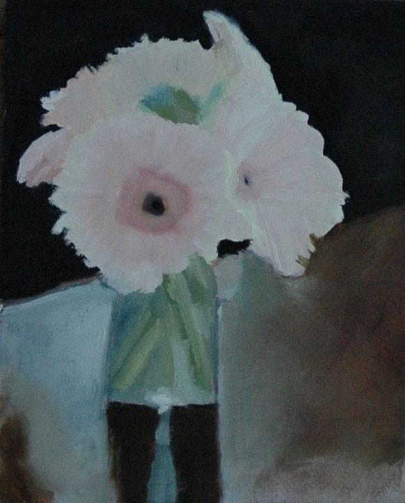 """FLOWERS IN VASE 2"" original fine art by Linda Popple"