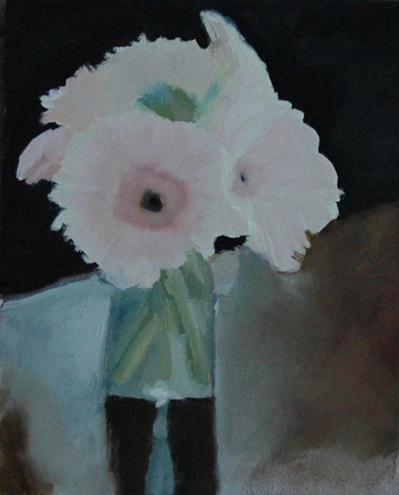 """FLOWERS IN VASE 2"" original fine art by Linda Popple"