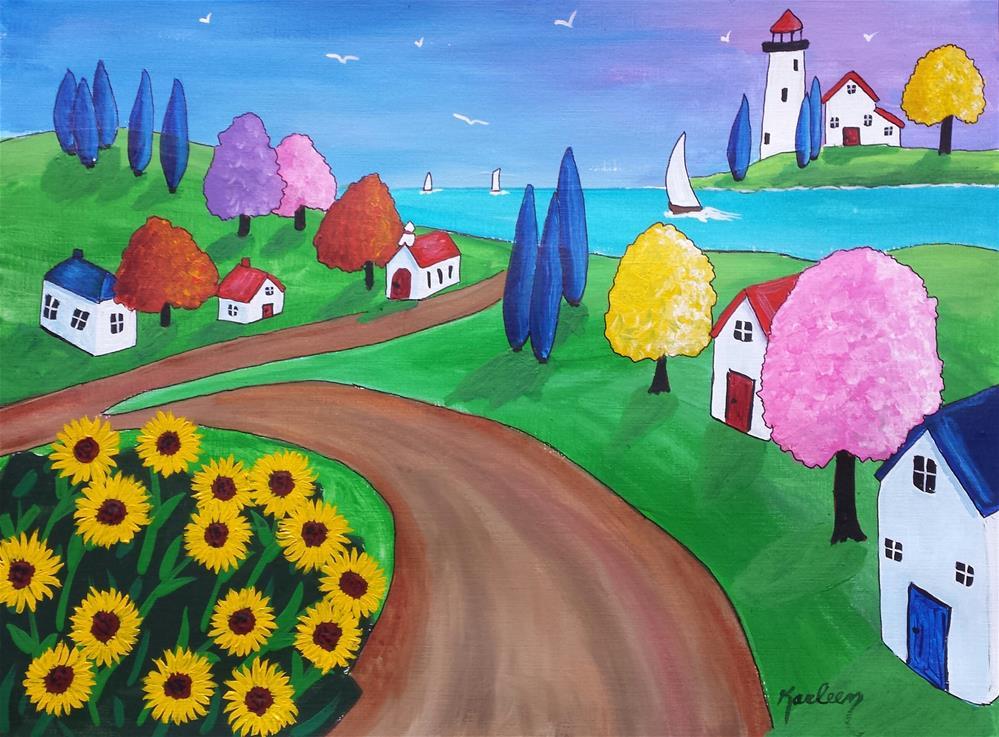 """Rural on the Coast"" original fine art by Karleen Kareem"